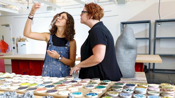 Last summer Marisabel Rey '19 and Professor of Art Rebecca Murtaugh were among Emerson project collaborators.