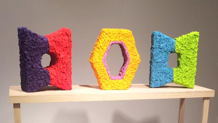 Sculptures by Professor Rebecca Murtaugh are on display at DEMO Project in Springfield, Ill.