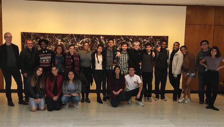 Posse scholars and mentors at the Munson-Williams-Proctor Arts Institute in Utica.