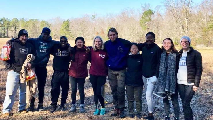 Hamilton students traveled to Kure Beach, N.C., over winter break to work on Hurricane Florence relief projects.