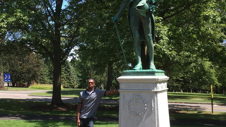 Jonathan Ward of the Nevis Historical Society visited Hamilton in August.