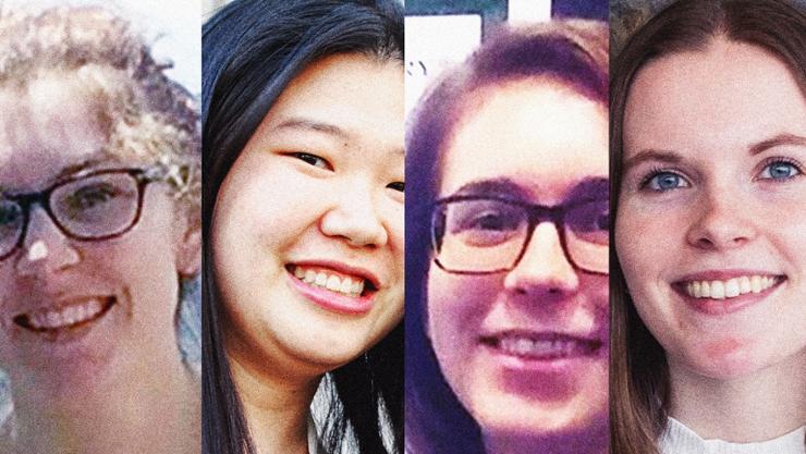 Elise Le Page '18, JennySoonthornrangsan '19, Hannah Zucker '15, Willa Mihalyi-Koch '19