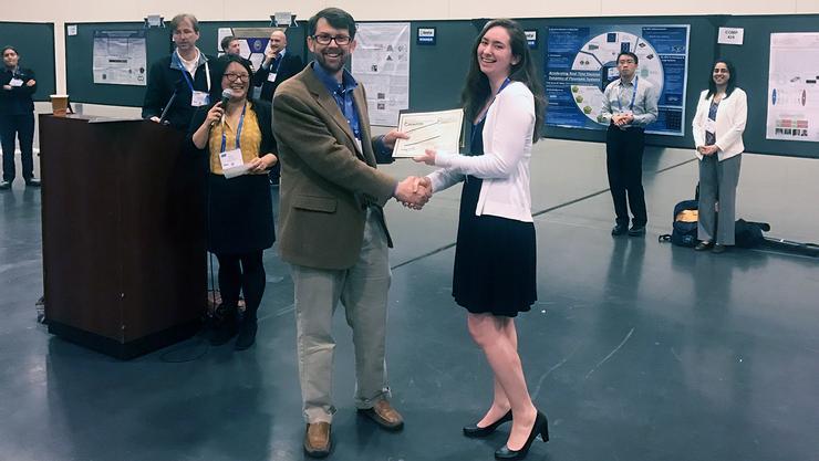 Erin Lewis '18 receives an ACS Undergraduate Poster Award.