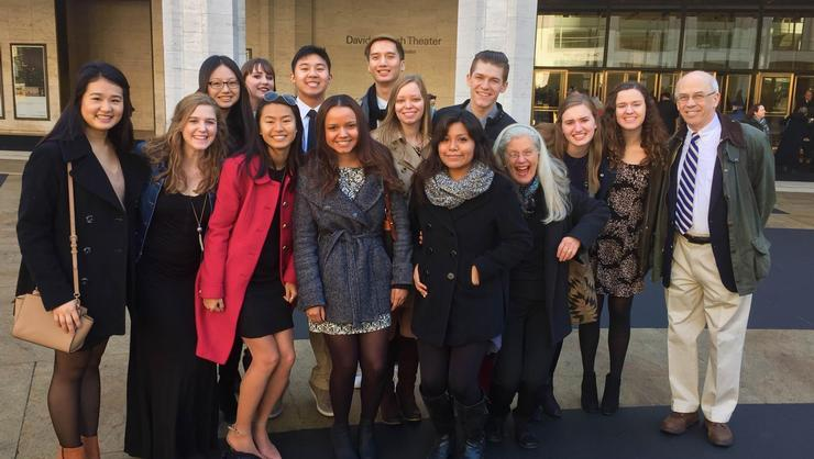 Hamilton's spring 2016 Program in New York group at the New York City Ballet at Lincoln Center.