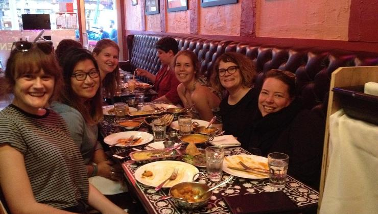 From left Laura Whitmer, Amy Zhang, Sarah Ostrow, Devon Stockmayer, Tina Hall, and Jane Springer.