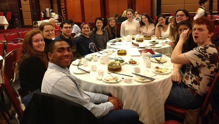 NYC Program students at Jing Fong restaurant in Chinatown.