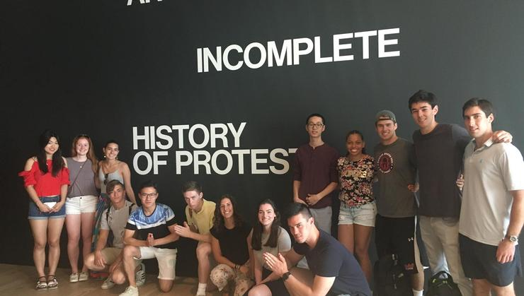 Hamilton Program in NYC students at the Whitney Museum.