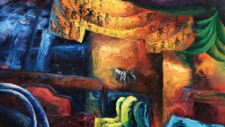 opus<br />oil on canvas<br />Heidi Wong '20