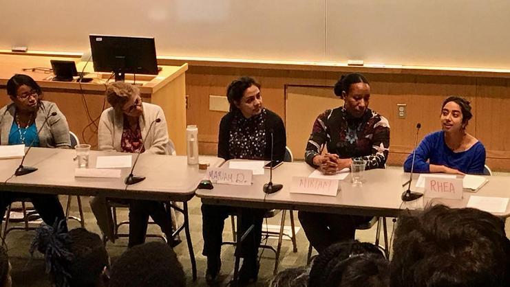 From left, Gbemende Johnson, Mireille Koukjian, Mariam Durrani, Miriam Merrill, and Rhea Datta.