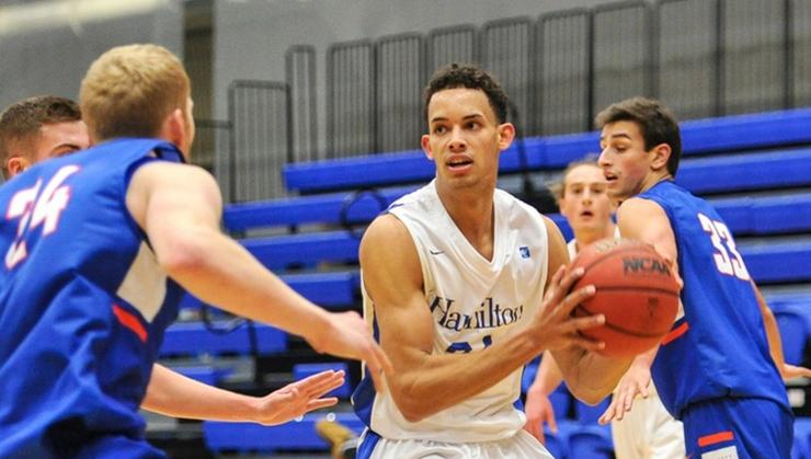 Kena Gilmour '20 is the NESCAC Men's Basketball Player of the Week for Jan. 2, 2018.