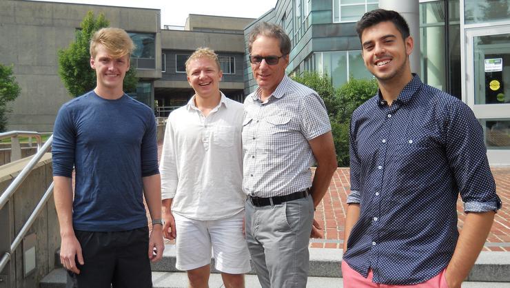 Sebastian Lissarangue '18, Nico Yardas '18, Professor Alan Cafruny and Ryan Franquiz '18.