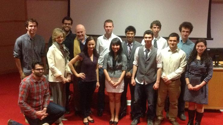 Finalists and judges gather for a photo after the Pitch Competition.