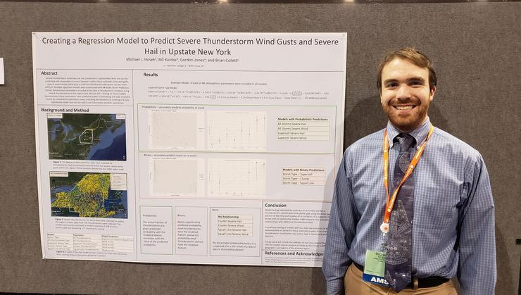 Michael Hosek '19 at the 99th American Meteorological Society Annual Meeting.