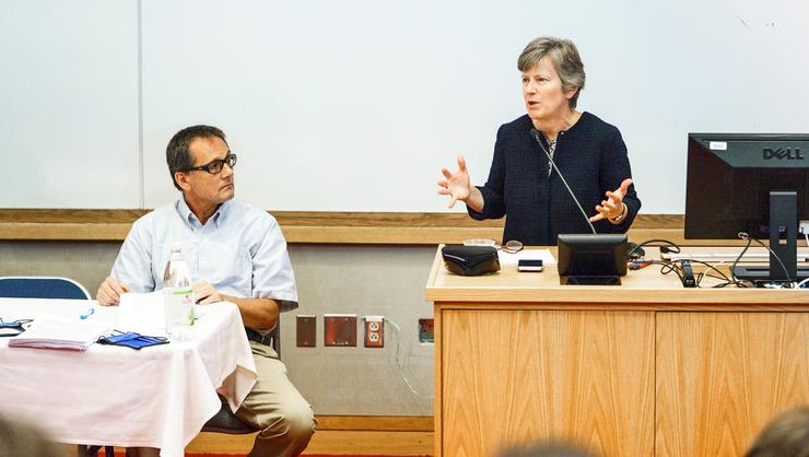 Mary Bonauto '83 was among participants in a panel of Comparative Literature and Social Change.