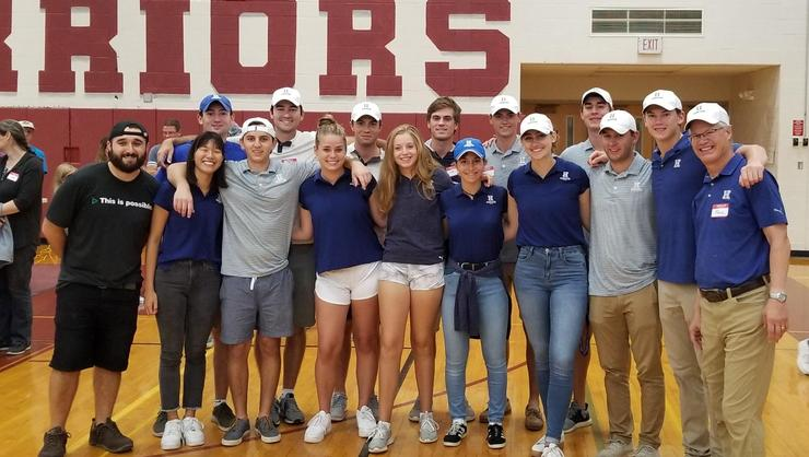 The men's and women's golf teams volunteered with Rise Against Hunger on Sept. 28 at Clinton High School.