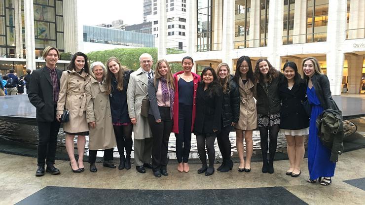 New York City Program participants visited the Metropolitan opera on April 29
