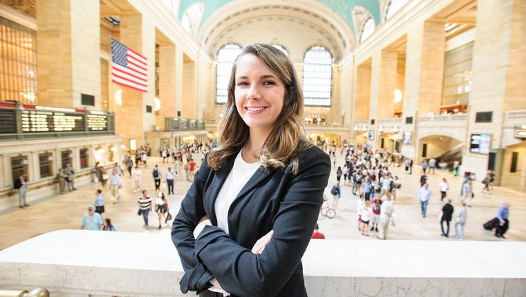 Sarah Robertson '19 in Grand Central Station in NYC.