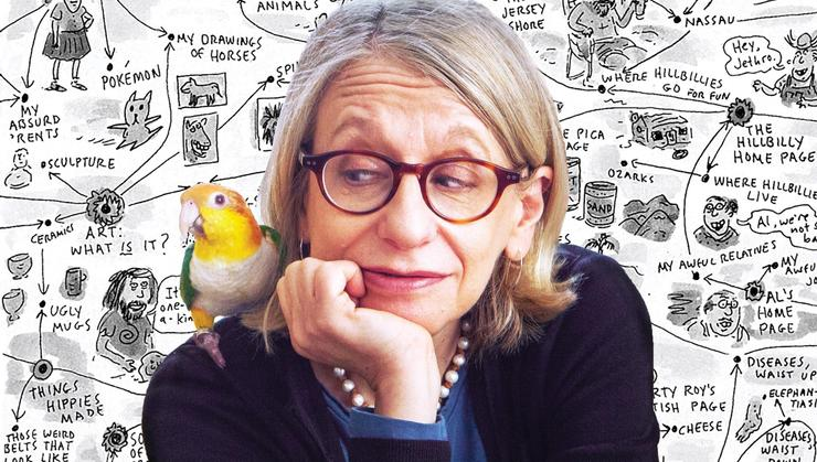 Roz Chast appears on the cover of the summer issue of <em>Hamilton</em> magazine.