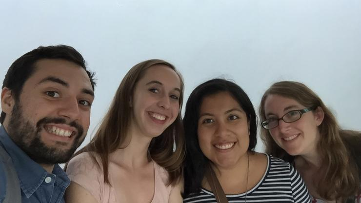 From left to right are Daniel Reyes '17, Lindsay Heyer '17, Leslie Campos '17 and Heather Sullivan, Hamilton Assistant Professor of Government. They worked as a team doing research in Costa Rica.