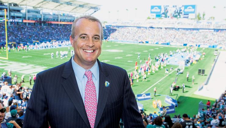 Jim Rushton '92, the chief revenue officer of the Los Angeles Chargers.