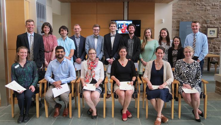 <em>Sigma Xi</em> initiated new members at the scientifc research honor society's annual dinner on May 19.