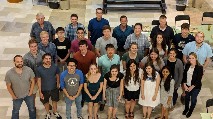 Organic chemistry students and their research advisors participated in the 2018 Summer Organic Research Symposium at Colgate University.