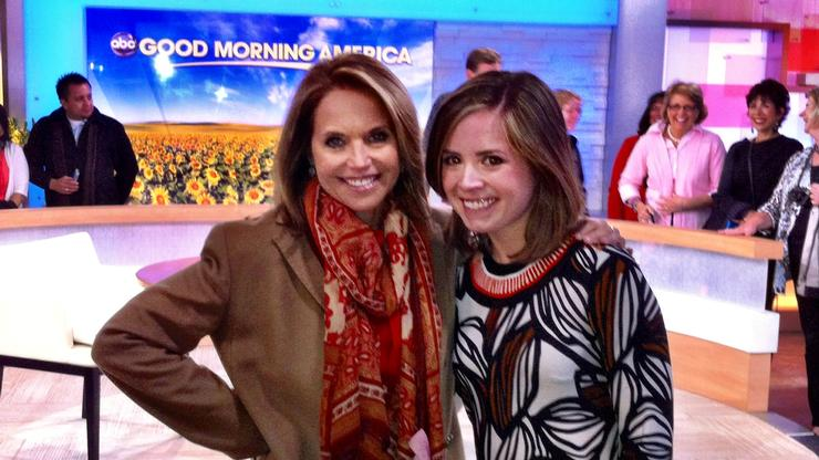 Before her job at BuzzFeed Meredith Kennedy '09, right, worked with Katie Couric.