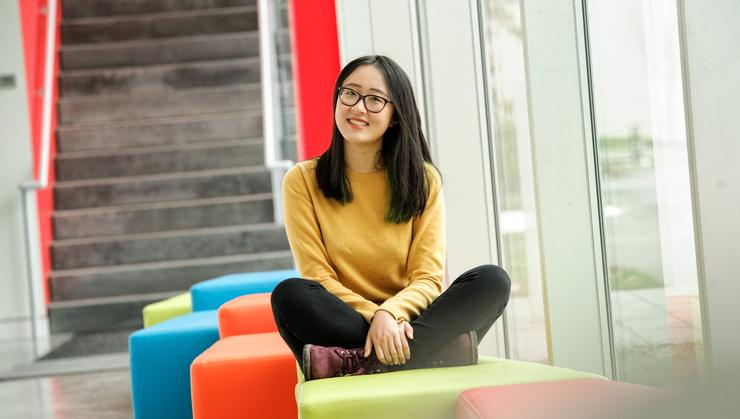 Senior Fellow Sophia Wang '19 in the Kennedy Arts Center.