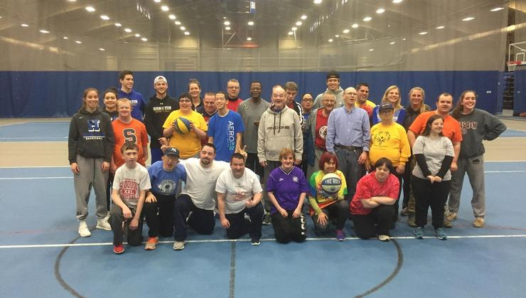 The Hamilton basketball programs hosted a Special Olympics basketball clinic for the fifth year in a row on April 19.