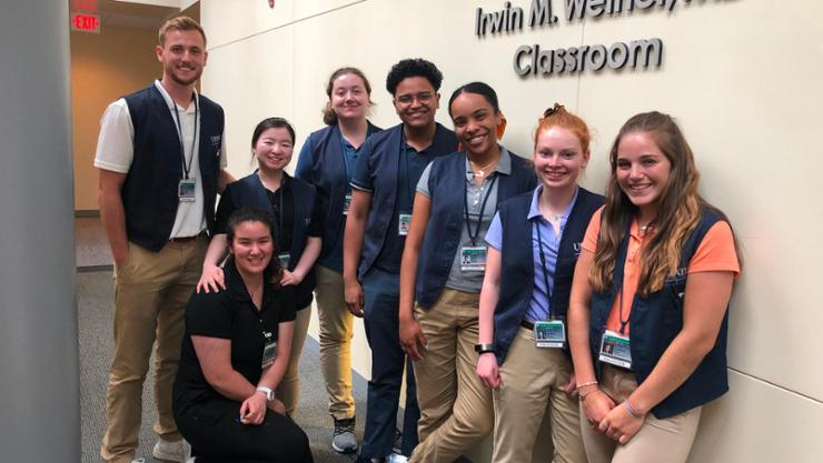 Hamilton participants in the Upstate Medical University summer immersion program.