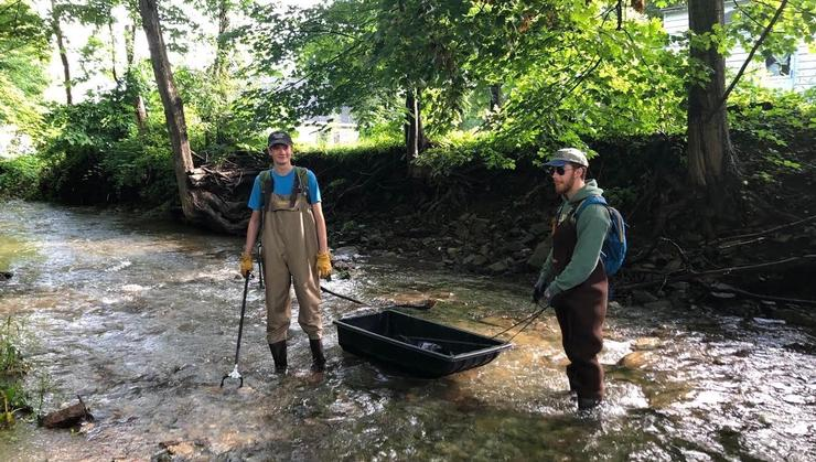 Summer 2019 Sustainability interns Jay Carhart '21 and Ryan Wall '20.