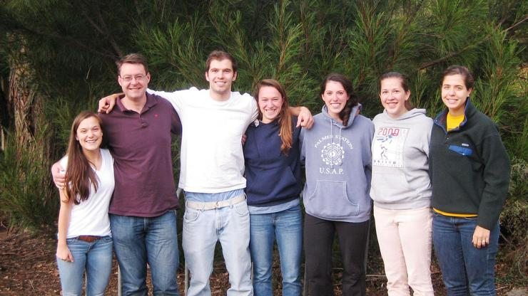 Left to right: Nora Boylan '15, Professor Matt King, Ted Clemens '14, Hannah Wagner '15, Katie Smith '13, Becca Straw '14 and Isabelle Weisman '15