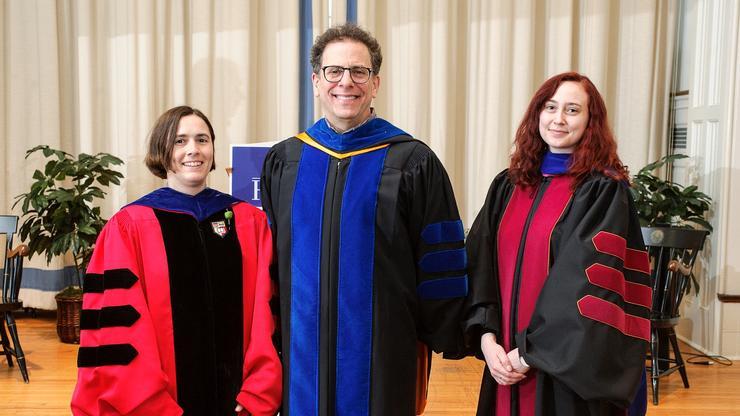 Teaching Award winners Anne Feltovich, Rob Kantrowitz '82, and Keelah Williams.