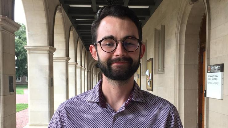 Keenan Burton '16 at Washington University in Saint Louis.