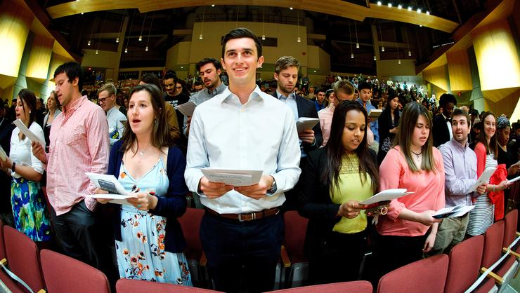 Students gathered at the 2016 Class & Charter Day.