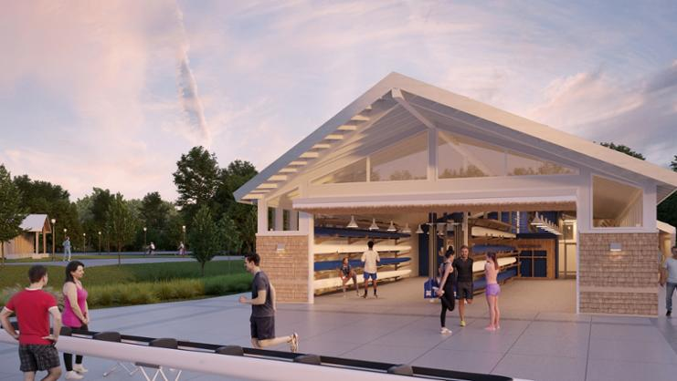 Boat house rendering
