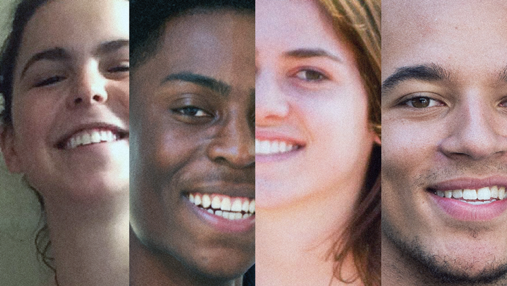 Paula Ortiz '18, KureemNugent '18, Isabel O'Malley '18, and Marquis Palmer '18