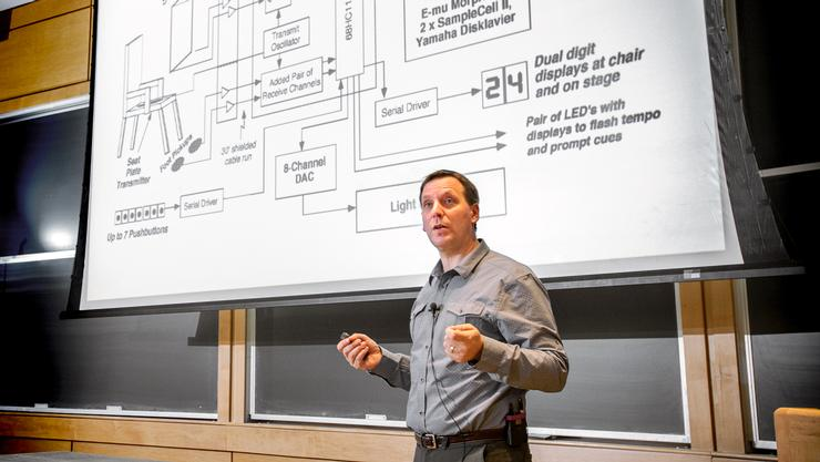 John Werner '92 talks about augmented reality at Hamilton.