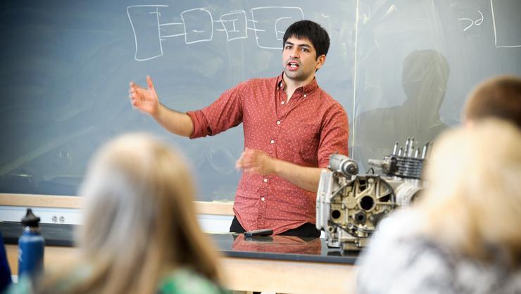 Ben Wesley '16 teaching
