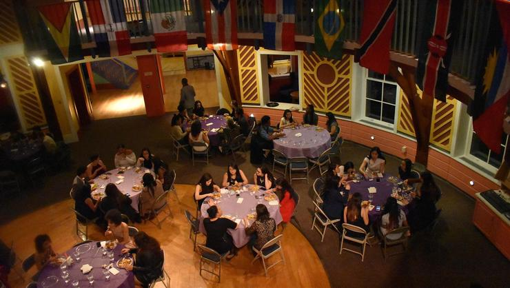 Participants celebrated diversity with an ethnic food diner.