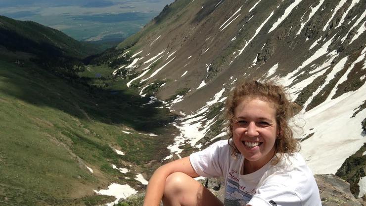 Emma Reynolds '17 in Colorado.