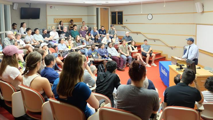 Author George Yancy lectures at Hamilton College Summer Program in Philosophy (HCSPiP).
