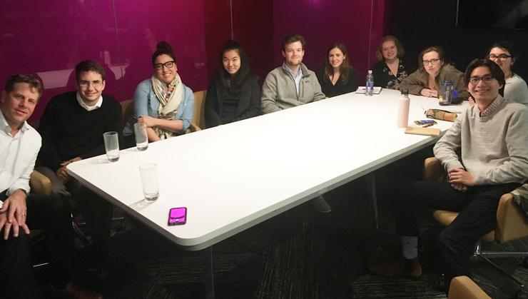 Hamilton students on the Program in Washington with alumni journalists.