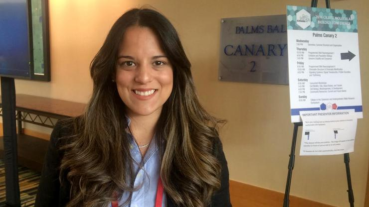 Kassandra Zaila '15 presented at The Allied Genetics Conference on July 14.