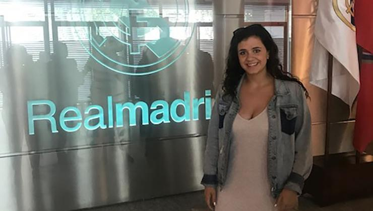 Kayla Self '21 at the Real Madrid Foundation's offices