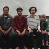 Ishan Mainali '21, Sagar, their host, and village kids