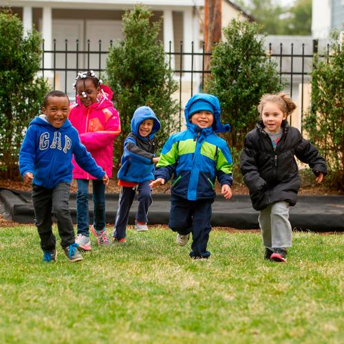 Kids at Adam J Lewis preschool