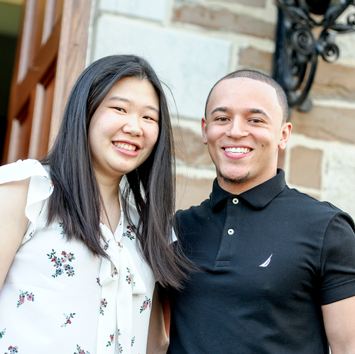 Jenny Soonthornrangsan '19 and Marquis Palmer '18