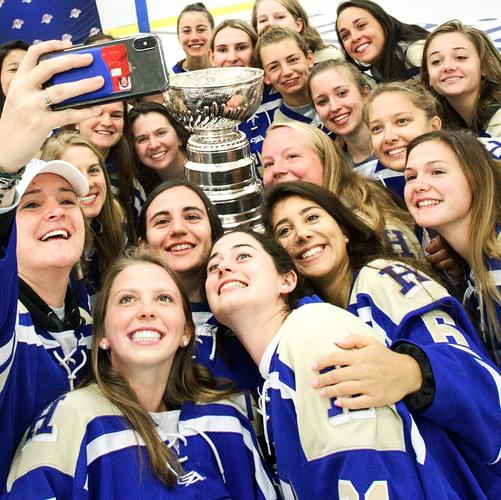 Women's Hockey Team with the Stanley Cup