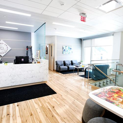 Johnson Center for Health and Wellness - 2nd floor reception area